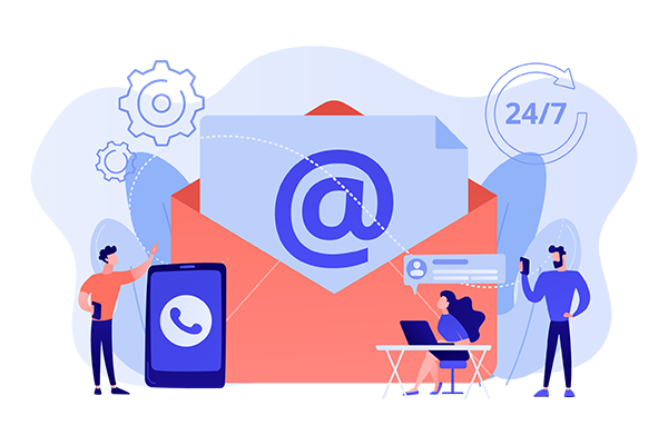 Hire live email agents