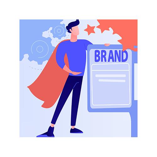 A superstar SaaS agent describing brand value.