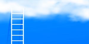 Ladder going upward in the sky.
